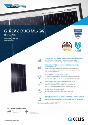 Elektriko Panel solarny Q.Peak DUO ML-G9