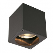 SLV Big Theo Ceiling Out Lampa Sufitowa, Kwadrat, Antracyt, Es111, Maks. 75w